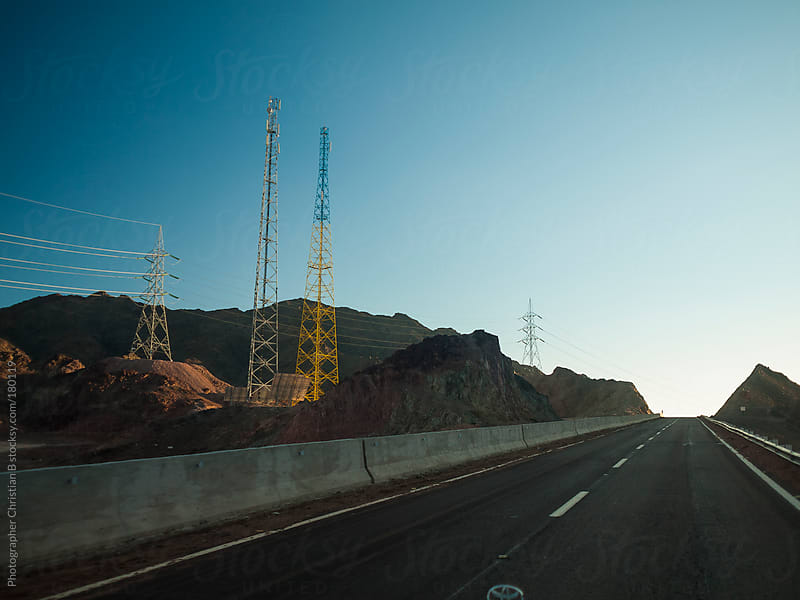 Communication towers by Photographer Christian B for Stocksy United