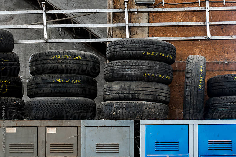 Tyres and lockers by James Tarry for Stocksy United