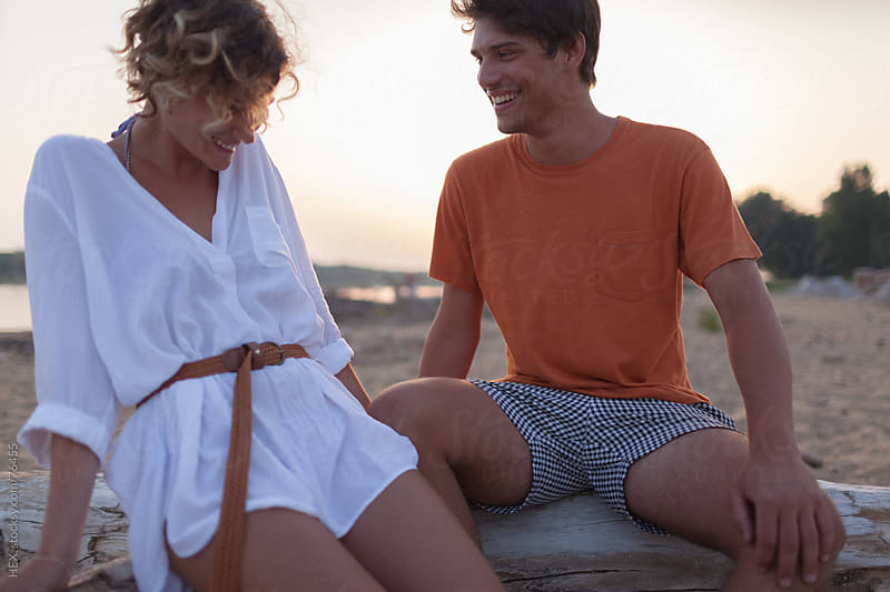 Flirting on the Beach by HEX. for Stocksy United
