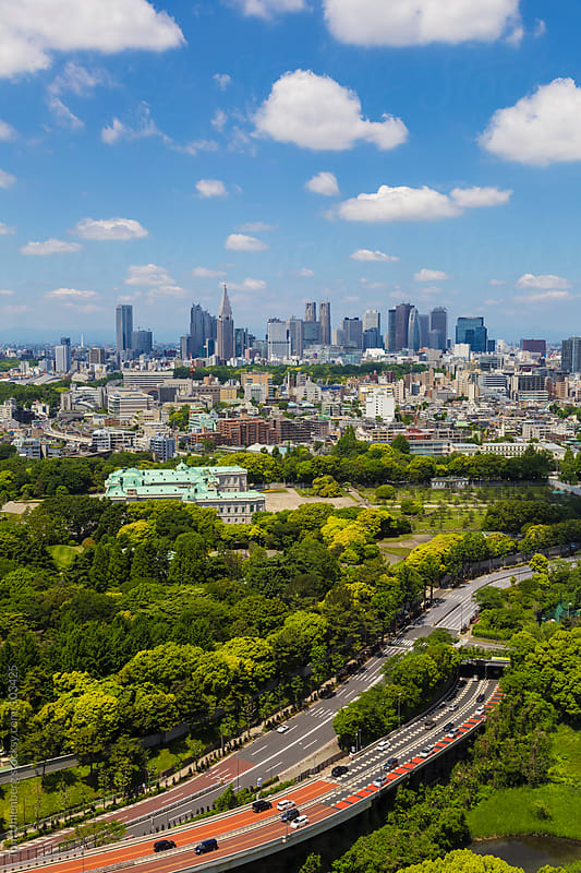 Tokyo, Japan - Shinjuku Skyline as Seen from Central Tokyo by Tom Uhlenberg for Stocksy United