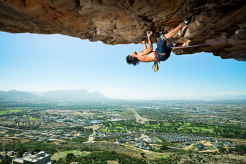 Extreme Rock Climber by Micky Wiswedel for Stocksy United