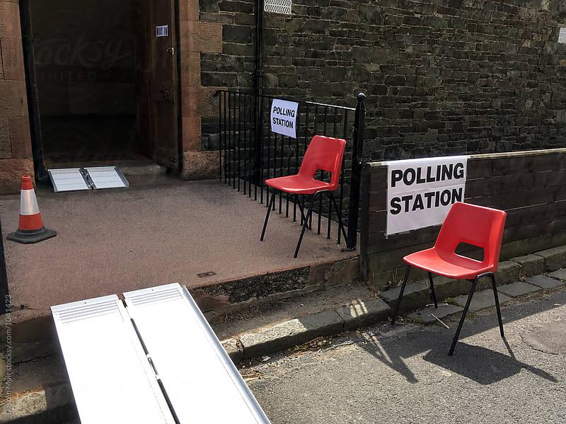 Polling station: EU referendum polling station. by Darren Muir for Stocksy United