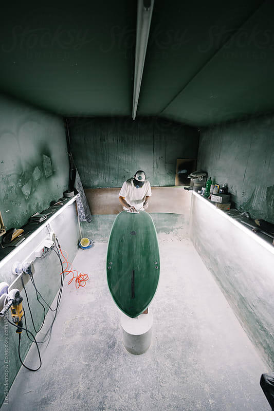 Surfboard production by Urs Siedentop & Co for Stocksy United