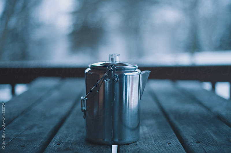 Closeup of Kettle on a Cold Winter Morning by Kevin Keller for Stocksy United