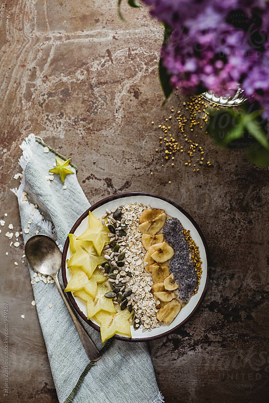 Muesli with lilac by Tatjana Zlatkovic for Stocksy United