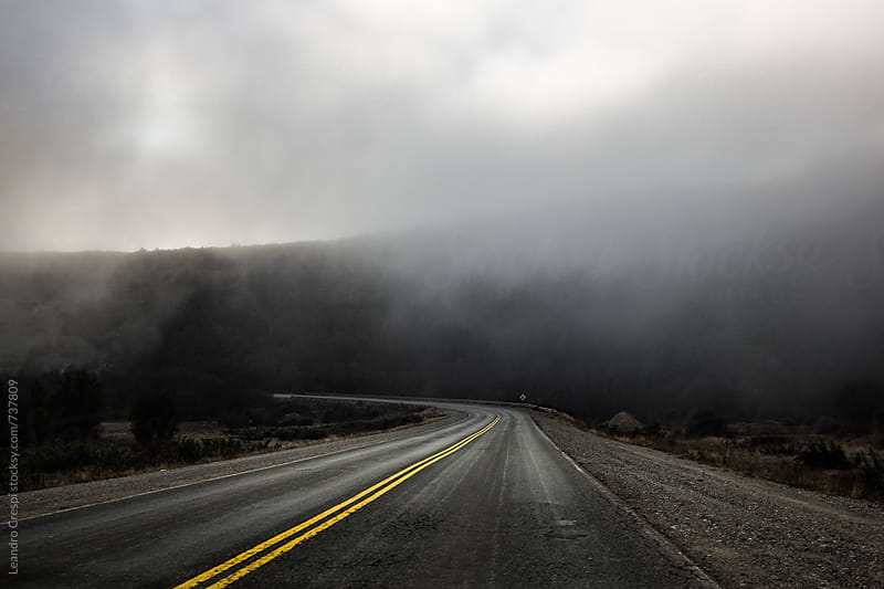 An empty road across Patagonia by Leandro Crespi for Stocksy United