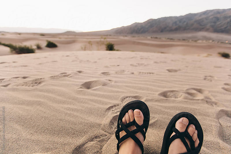 Woman's Toes in Desert Sand by Holly Clark for Stocksy United