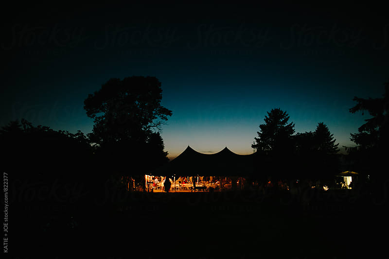 Glowing Tent at Night by KATIE + JOE for Stocksy United