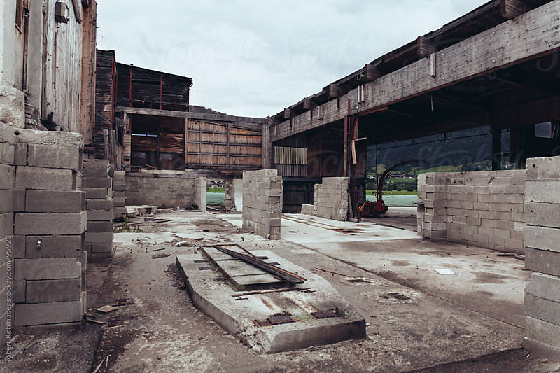Old abandoned factory by Robert Kohlhuber for Stocksy United