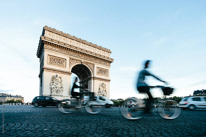 Paris Cyclists by Agencia for Stocksy United