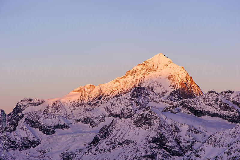 Dent Blanche at dawn by Peter Wey for Stocksy United