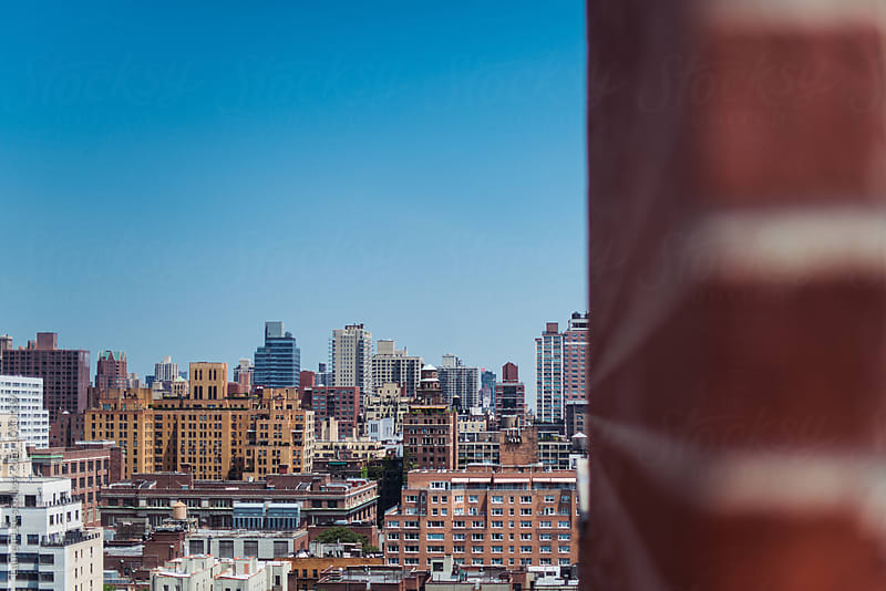 New York City skyline by Lauren Naefe for Stocksy United
