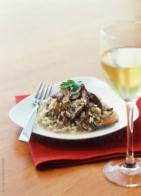 Mushroom Risotto by Jill Chen for Stocksy United
