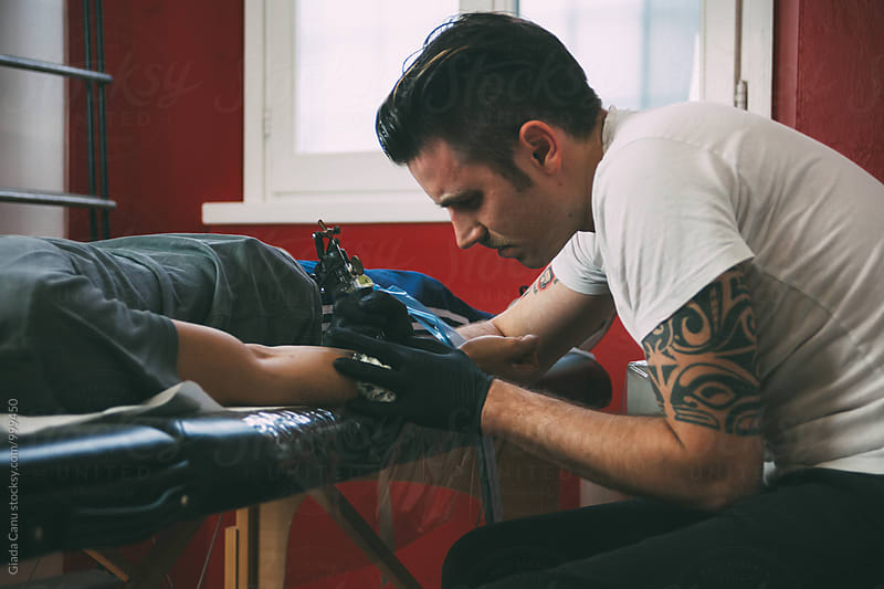 Tattoo artist by Giada Canu for Stocksy United
