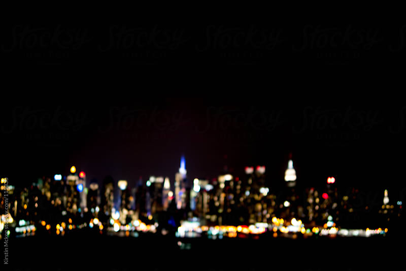 Manhattan Skyline at night by Kirstin Mckee for Stocksy United