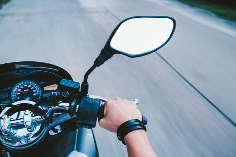 Motorbike on the Road by Marija Savic for Stocksy United