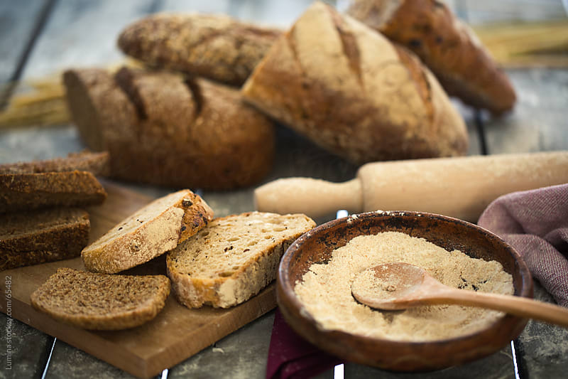 Whole Grain Bread and Flour by Lumina for Stocksy United