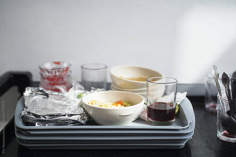 Left overs on food tray by Per Swantesson for Stocksy United