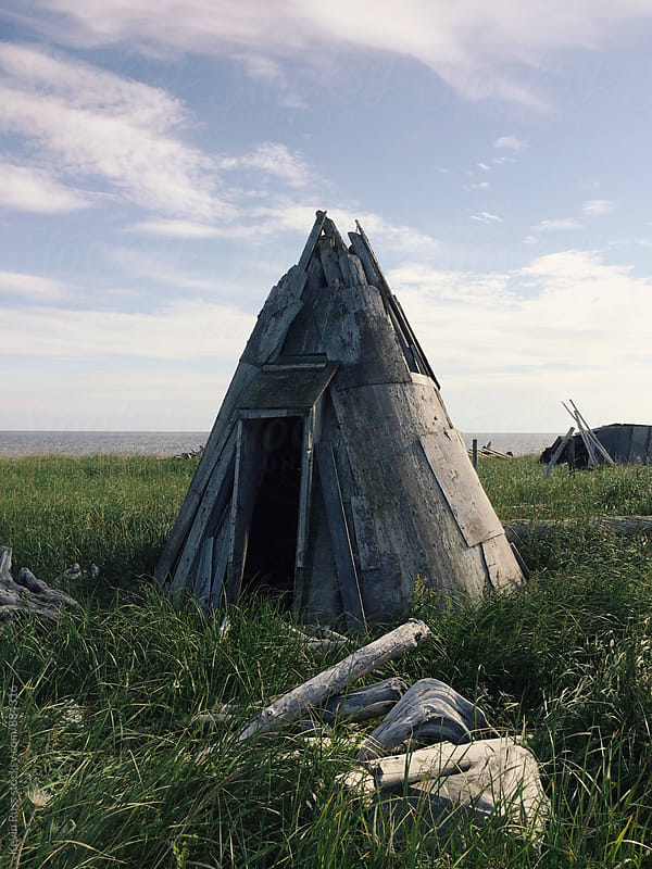 Odd House in Alaska by Kevin Russ for Stocksy United
