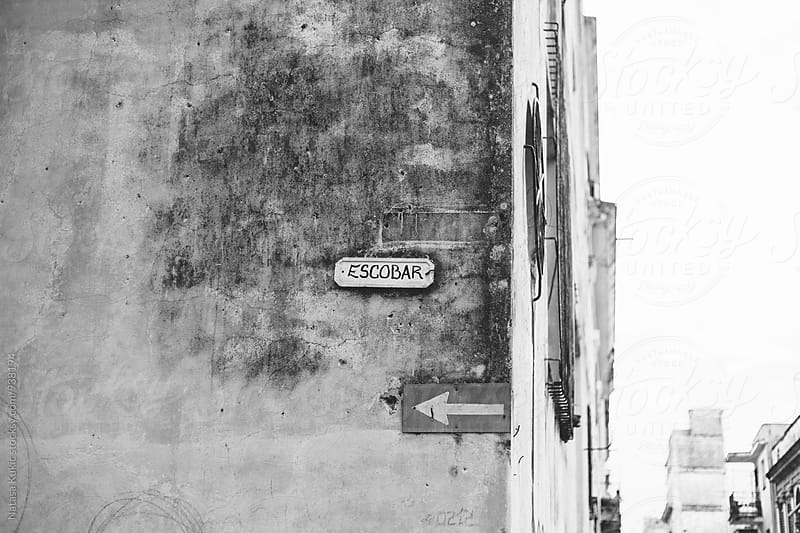 Name of the street in Havana by Natasa Kukic for Stocksy United