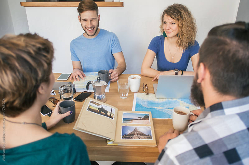 Group of Friends Planning the Vacation by Aleksandra Jankovic for Stocksy United