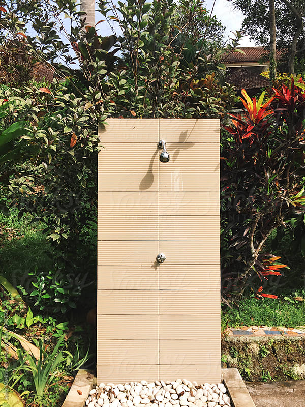 Outdoor Shower by Jesse Weinberg for Stocksy United