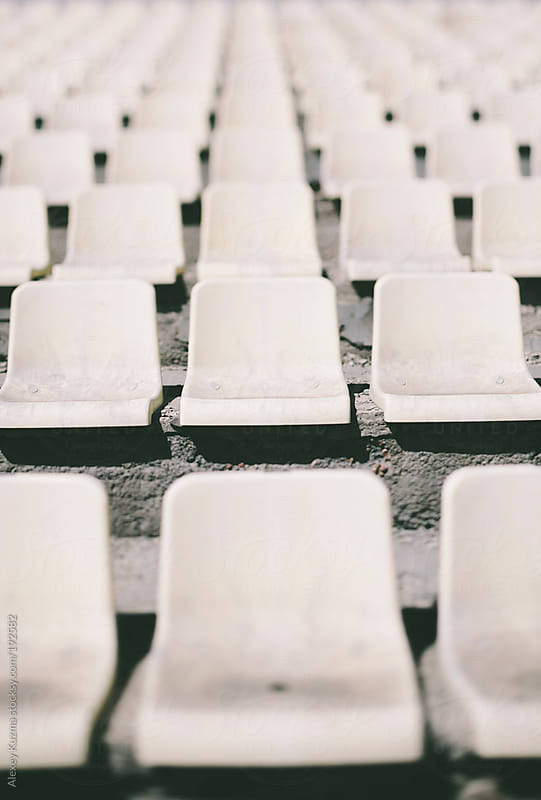 abandoned dirty seats by Alexey Kuzma for Stocksy United