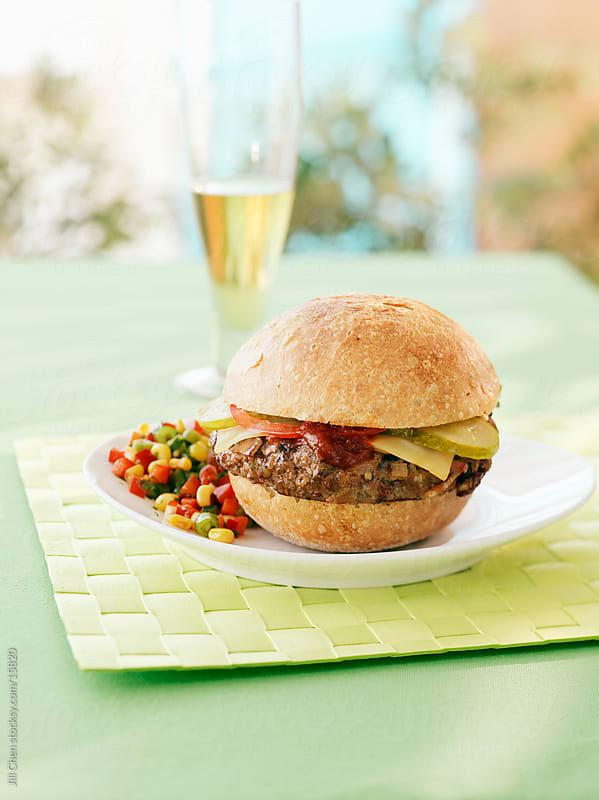 Summer Burger by Jill Chen for Stocksy United
