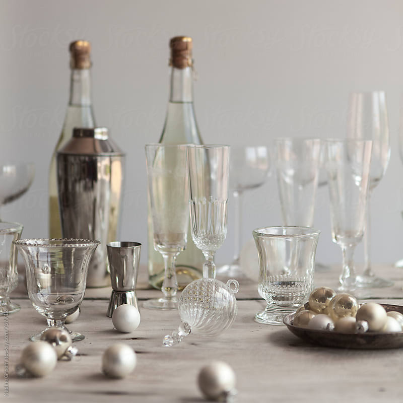 Christmas drinks table by Nadine Greeff for Stocksy United