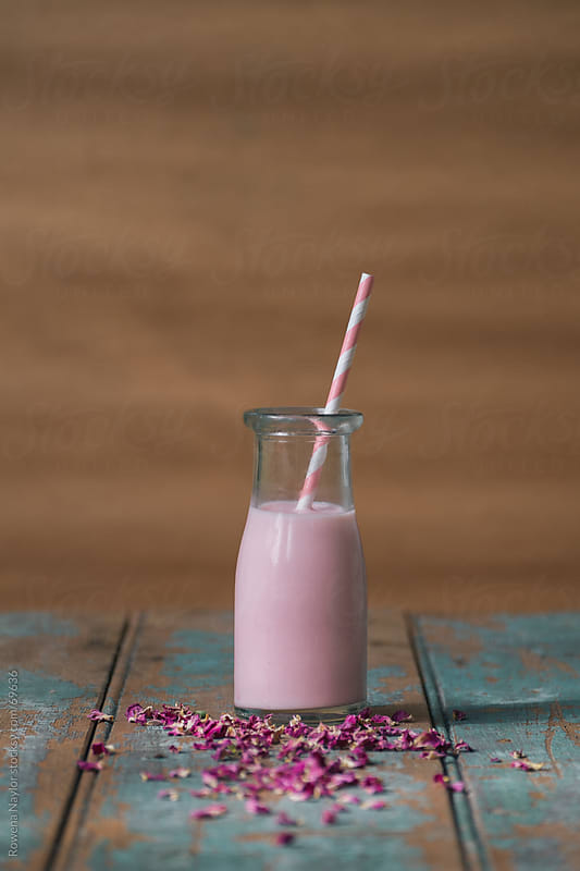 Persian Rose Flavored Milk by Rowena Naylor for Stocksy United