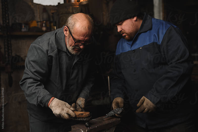 Two Blacksmiths Portrait by Milles Studio for Stocksy United