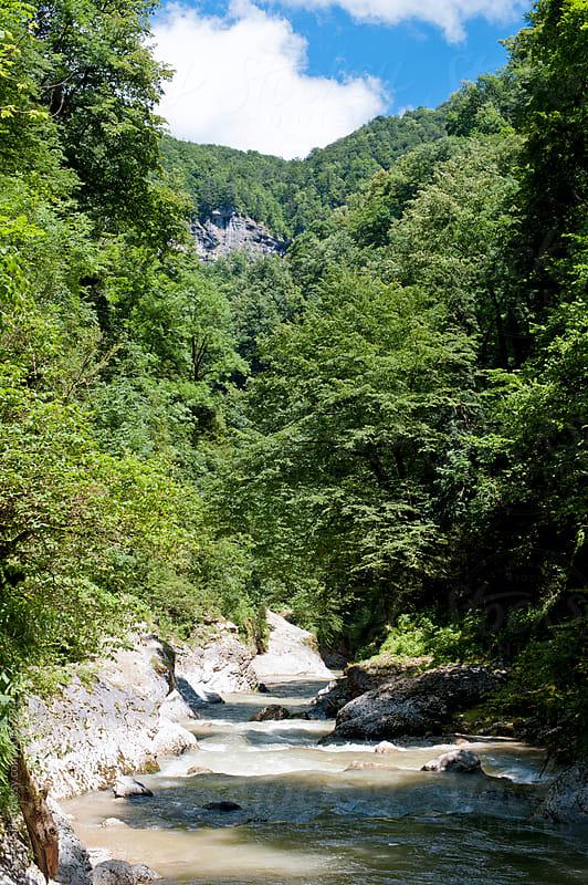 The mountain river by Svetlana Shchemeleva for Stocksy United