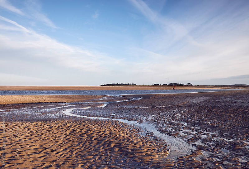 Low tide at sunset. Wells-next-the-sea, Norfolk, UK. by Liam Grant for Stocksy United