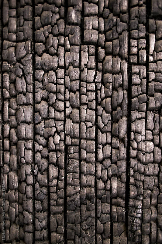 Burnt wooden wall by Marko Milovanović for Stocksy United