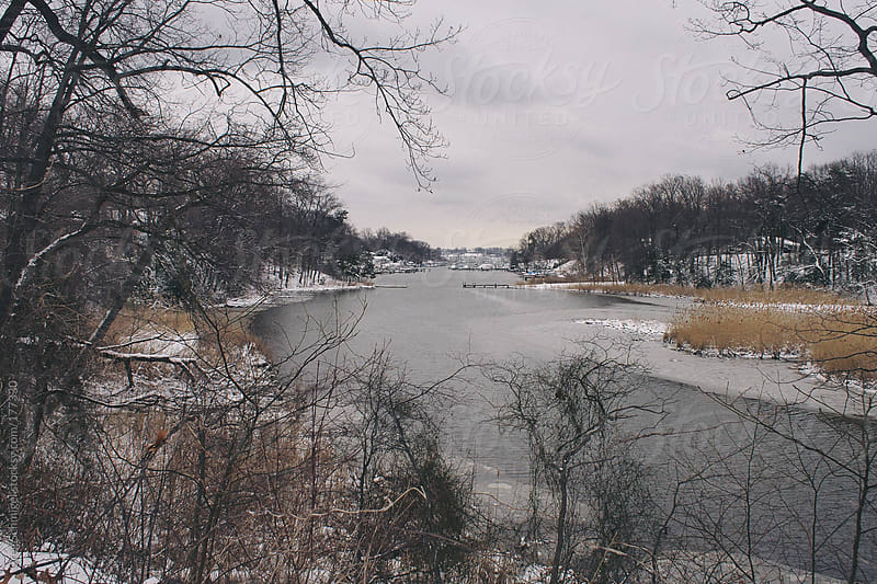 A snow covered winter landscape on Maryland's eastern shore by Greg Schmigel for Stocksy United