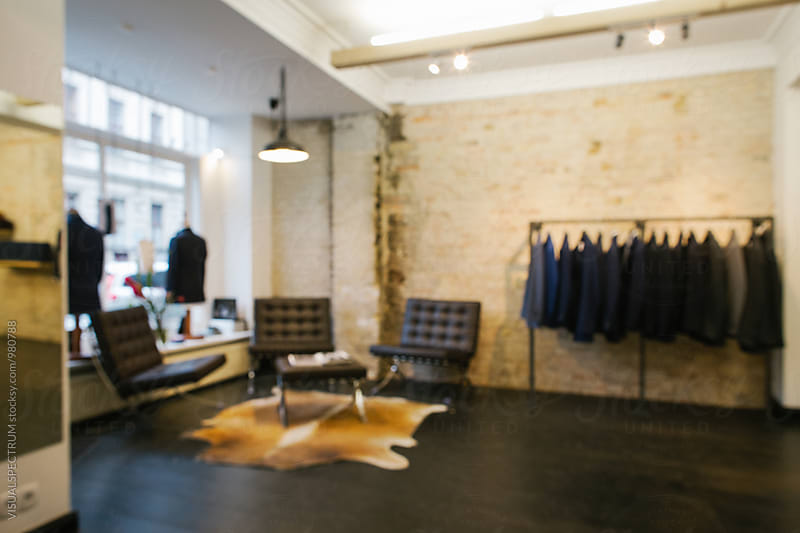 Men's Fashion - Stylish Store Interior Defocused by VISUALSPECTRUM for Stocksy United