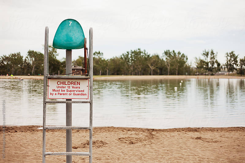 Lifeguard lookout on small lake. by W2 Photography for Stocksy United