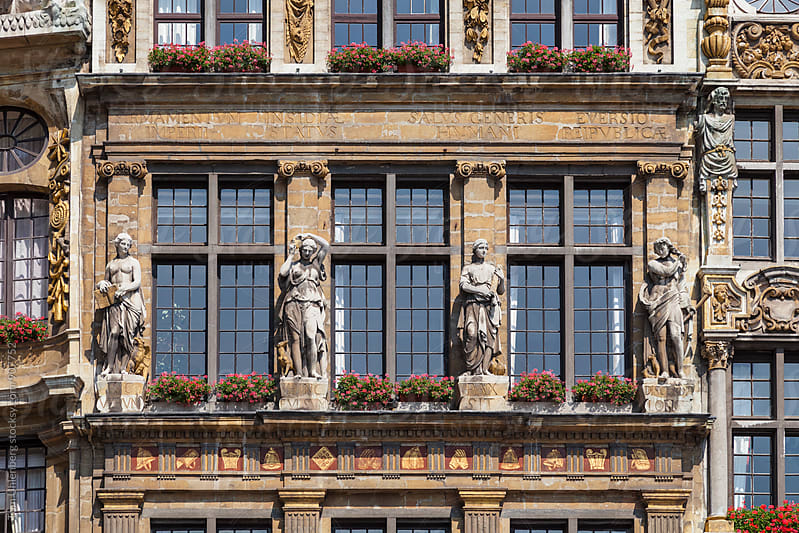 Brussels, Belgium - Detail of a Guildhall on Grand Place by Tom Uhlenberg for Stocksy United