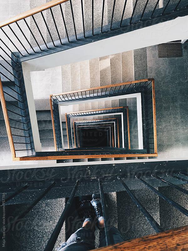 Swirly stairs by Maja Topcagic for Stocksy United