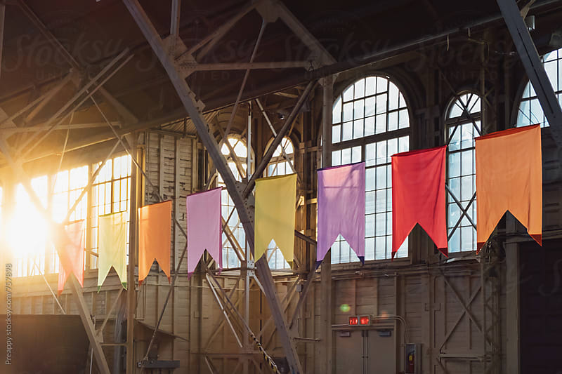 Colourful bunting by Preappy for Stocksy United