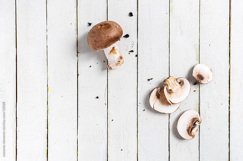 Mini Organic Portabella Mushrooms by suzanne clements for Stocksy United