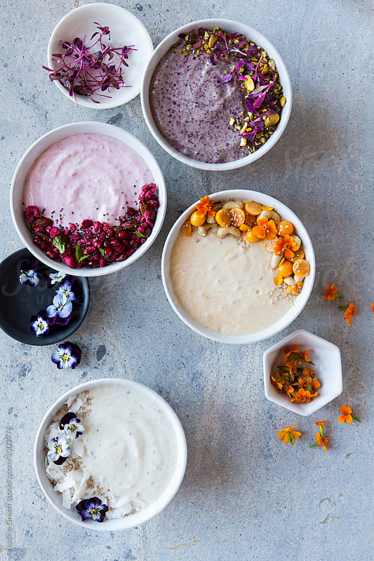 Smoothie bowls by Nadine Greeff for Stocksy United
