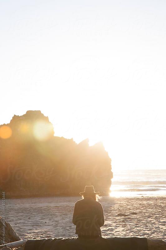 Woman On A Beach by Carey Haider for Stocksy United