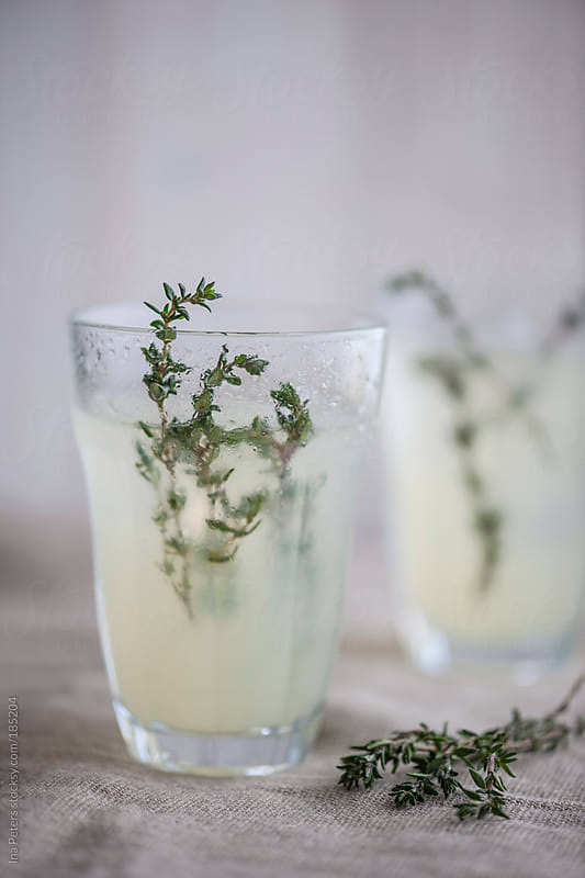 Food: Fresh Homemade Lemonade with Thyme by Ina Peters for Stocksy United