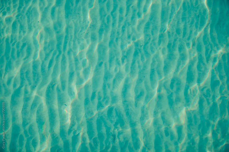 Clear blue ocean water from above by Gary Parker for Stocksy United