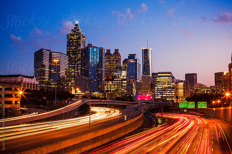 Atlanta Downtown at Twilight by Good Vibrations Images for Stocksy United