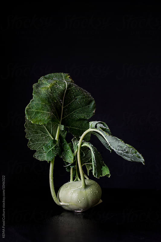 Fresh Kohlrabi  by KEMA Food Culture for Stocksy United