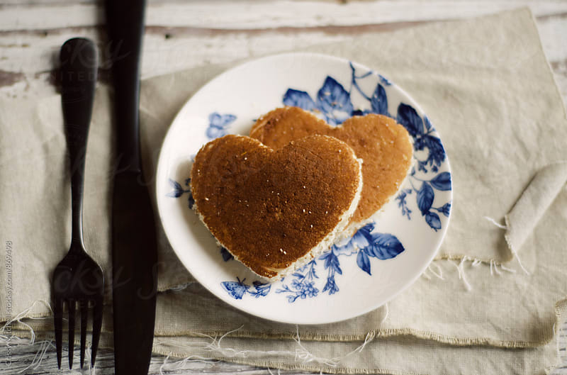 heart pancakes by Crissy Mitchell for Stocksy United