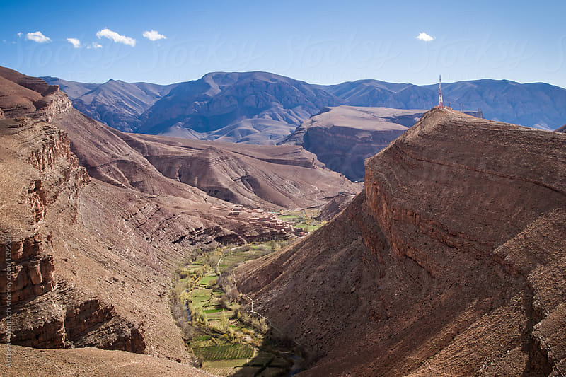 View of Dades Gorge in Morocco by Andreas Wonisch for Stocksy United