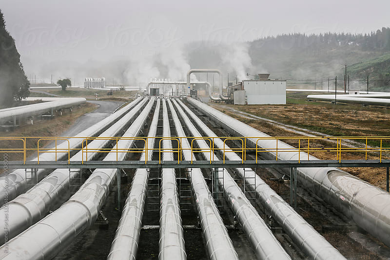 Geothermal Power Plant  by Raymond Forbes LLC for Stocksy United
